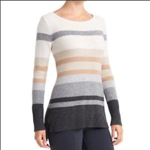 Athleta cashmere lodge stripe tunic sweater